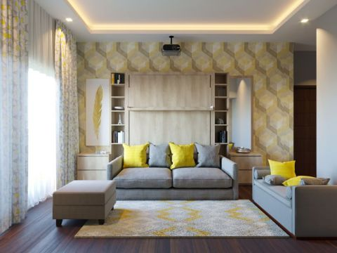 LIVING ROOM  HomeLane Interiors