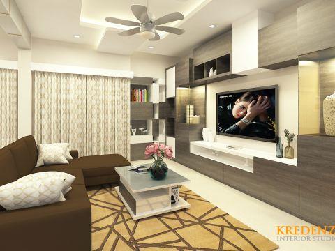 LIVING ROOM  Kredenza Interior Studios