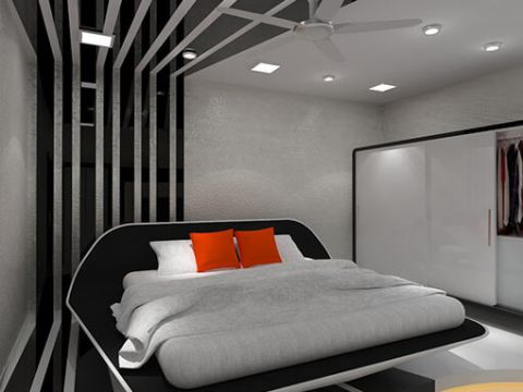 BEDROOM  Kruti Architects and Interior Designers