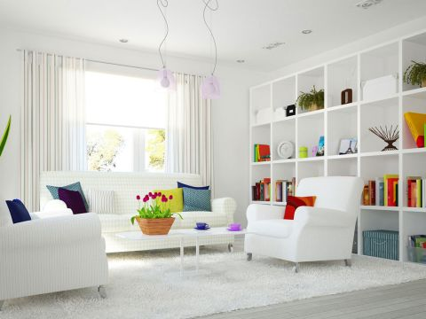 LIVING ROOM  Mcube Interiors