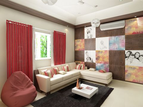 LIVING ROOM  Renjith Associates