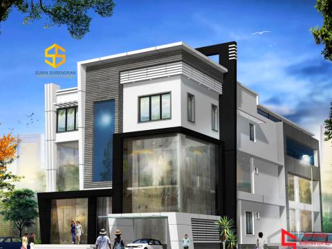 COMMERCIAL SPACES  Subin Surendran Architects