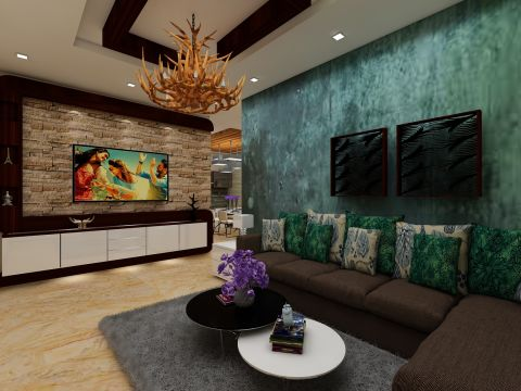 LIVING ROOM  Tanmaya Interiors