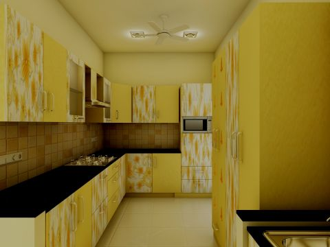 KITCHEN  Vsquare Interior Designs Pvt Ltd