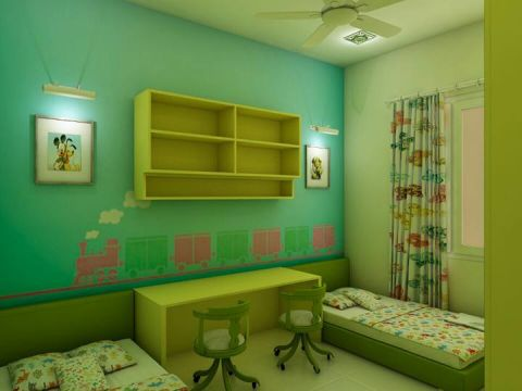 STUDY/OFFICE ROOM  Vsquare Interior Designs Pvt Ltd