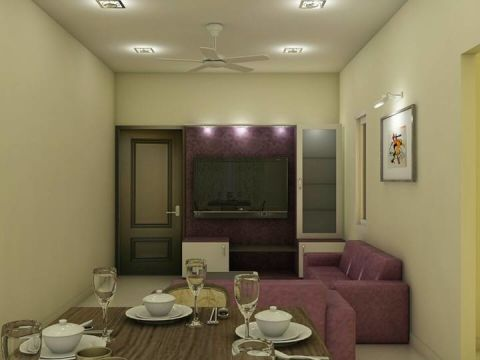 LIVING ROOM  Vsquare Interior Designs Pvt Ltd