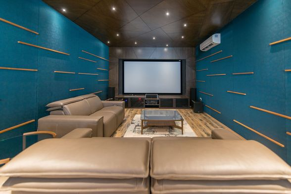 Home Theater Aamir and Hameeda Interior Designers