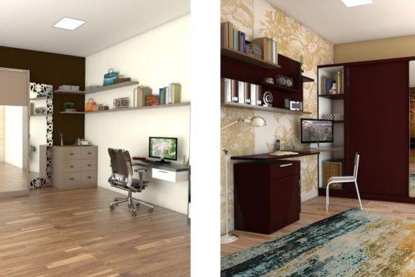 Study/Office Room Blue Interiors