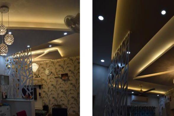 False Ceiling Blue Interiors