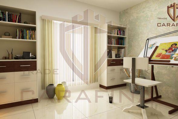 Study/Office Room Carafina Interior Designers