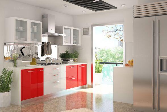 Kitchen Red E Interiors