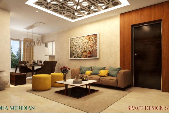 Living Room Space Design Studio Interiors