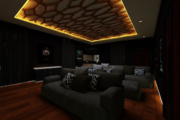 Home Theater Tanmaya Interiors