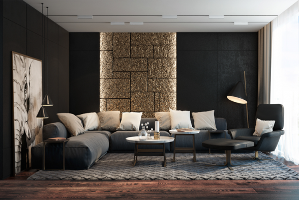 Living Room Vinirma Interiors
