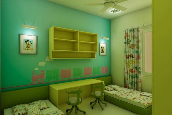 Study/Office Room Vsquare Interior Designs Pvt Ltd