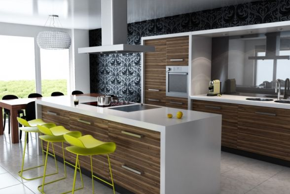 Kitchen Walls and Woods