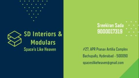 SD Interiors & Modulars  - Interior designer