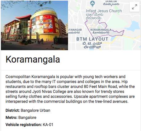 Koramangala, Bangalore
