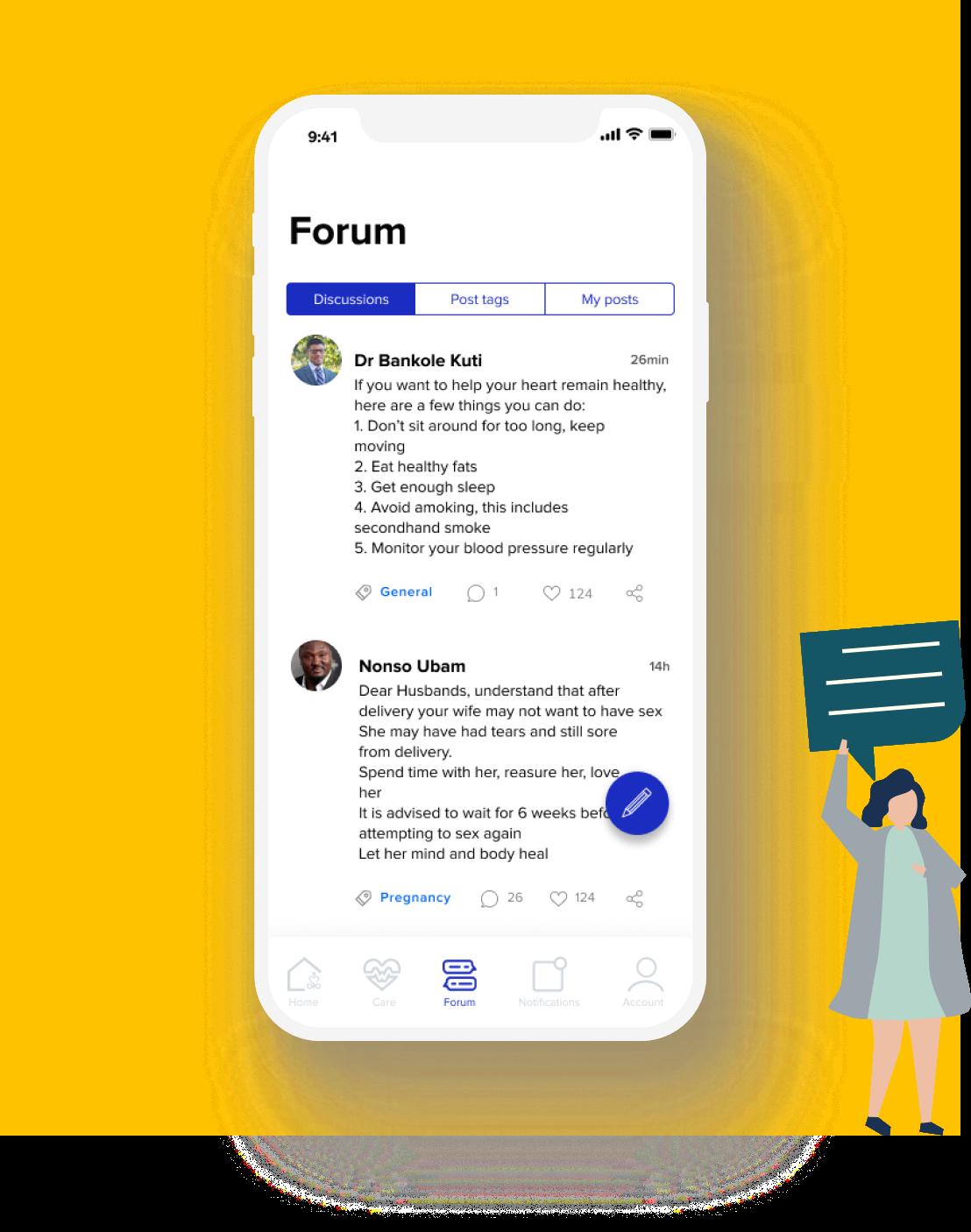 Write post on Aegle Forum