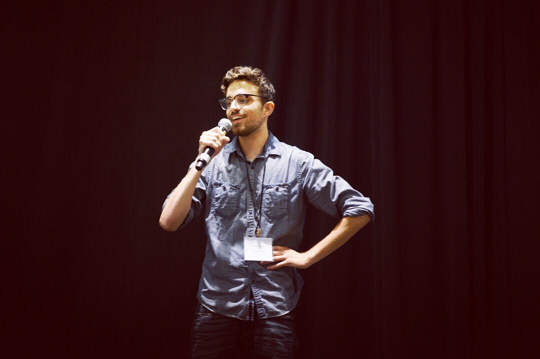 Charlie Cluff presenting at BlockTrain Expo