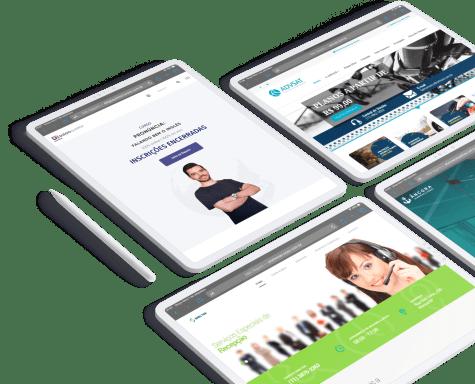 Tenha um Website Profissional, com layout moderno e ferramentas que auxiliem na venda