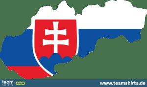 SLOWAKISCHE REPUBLIK SILHOUETTE FARBIG