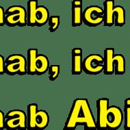 ICH HAB ABITUR