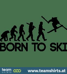 Zum Skifahren 2 geboren