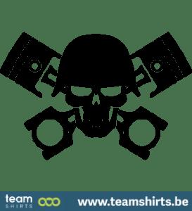 Schädel Kolben Helm Armee