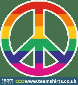 Regenbogen-Friedenszeichen