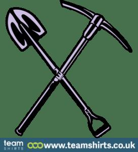 Schaufel und Hammer