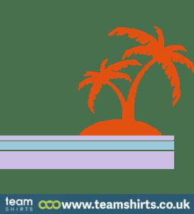 Palmeninsel und Meer