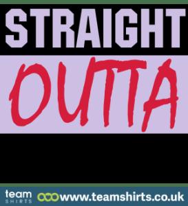 Straight Outta - kostenloser Custom TEXT