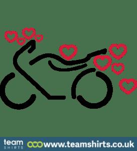 Motorrad mit Herzen
