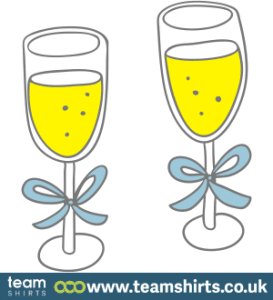 CHAMPAGNE GLASSES COLOUR
