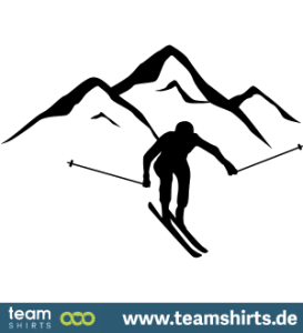 Berg Skifahren
