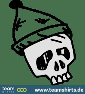 Schädel mit Hut