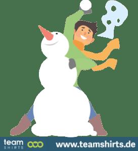 Junge Schneemann