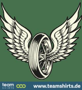 08 Reifen Fluegel Motorrad png vectorstock 1111952