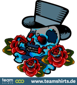 Tattoo rose Schädel