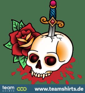Schädel Schwert Tattoo