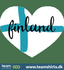 Suomi finland sydän lippu