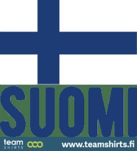 Suomen lippu ja suomi teksti finland
