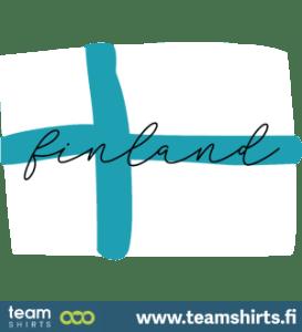 Suomi finland käsinkirjoitettu lippu