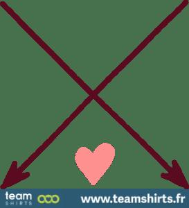 Gekreuzte Pfeile mit Herz