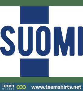 Suomi teksti sinivalkoinen finland