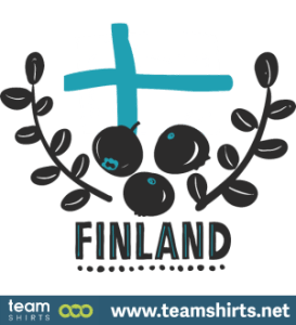 Suomi finland logo marjat ja lippu