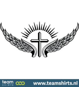 Winged lateinisches Kreuz