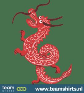 Chinesischer roter Drache