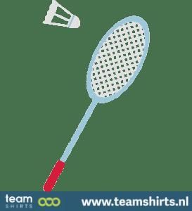 Badmintonschläger und Birdie